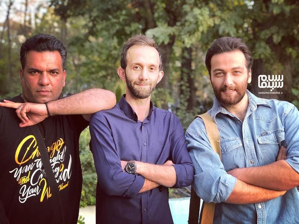 میلاد میرزایی، حسن سالار و ایرج کریمی در پشت صحنه ی سریال «شرم»