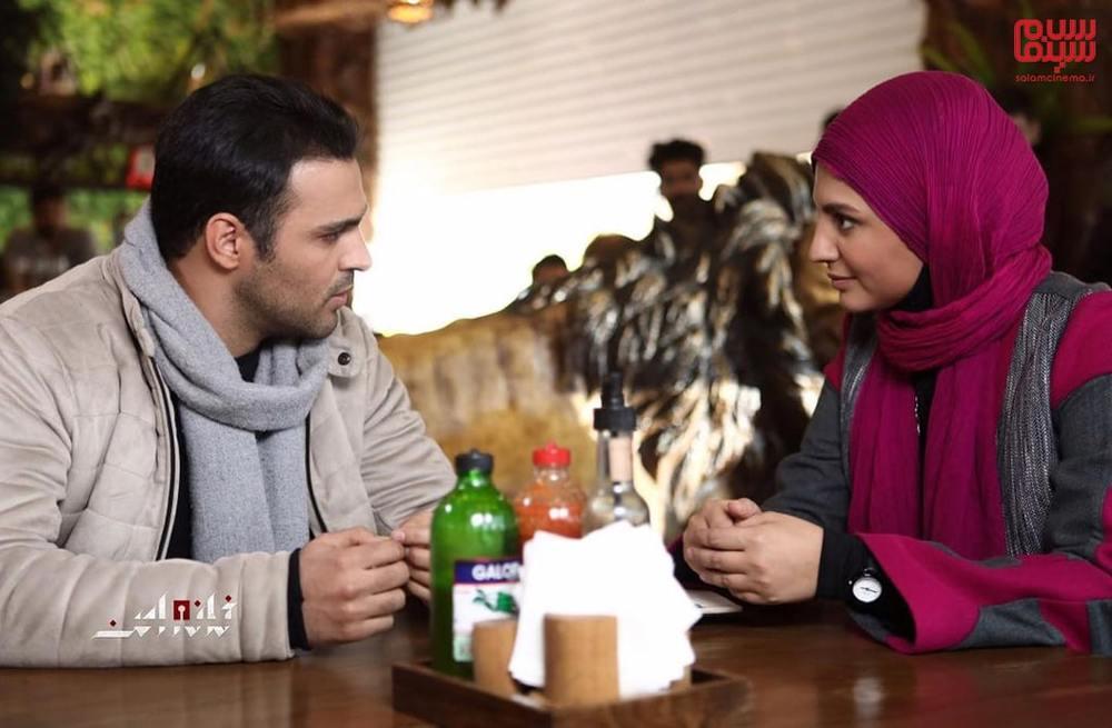 سامان صفاری و نیلوفر کوخانی در سریال «خانه امن»