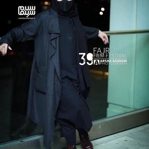 باران کوثری در اکران فیلم «بی همه چیز» در سی و نهمین جشنواره فیلم فجر