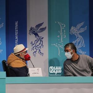 رضا عطاران و پژمان جمشیدی در نشست خبری فیلم «شیشلیک» در سی و نهمین جشنواره فیلم فجر