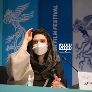ملیسا ذاکری در نشست خبری فیلم «ستاره بازی» در سی و نهمین جشنواره فیلم فجر