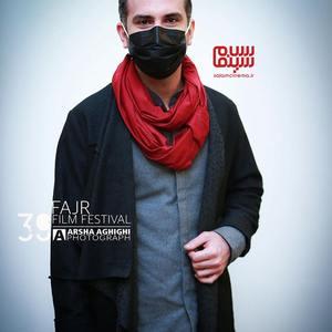 هوتن شکیبا در اکران فیلم «ابلق» در سی و نهمین جشنواره فیلم فجر