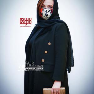 گلاره عباسی در اکران فیلم «ابلق» در سی و نهمین جشنواره فیلم فجر