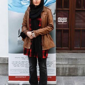 غزال نظر در آیین رونمایی از فیلم سینمایی «پارمیدا» در موزه سینما