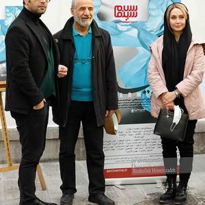 مریم خدارحمی،قاسم زارع زاغه و کامران تفتی در آیین رونمایی از فیلم «پارمیدا» در موزه سینما