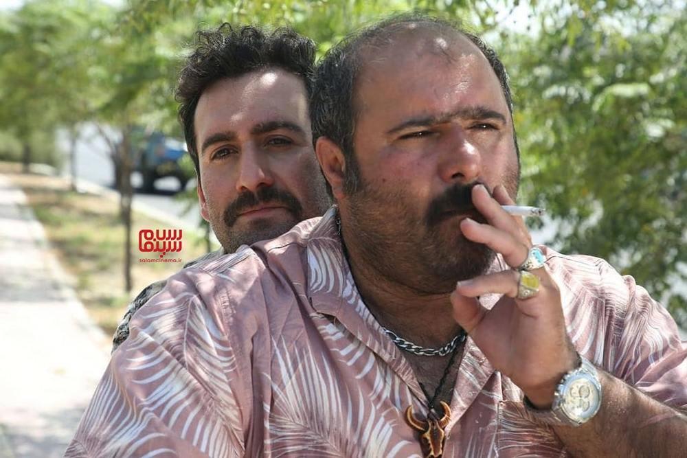 نیما شعبان نژاد و کاظم نوربخش در فیلم «لب خط»