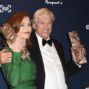 ایزابل هوپر و پل ورهوفن برندگان جوایز اسکار سینمای فرانسه