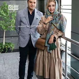 شبنم قلی خانی و همسرش در اکران خصوصی فیلم «تکخال»