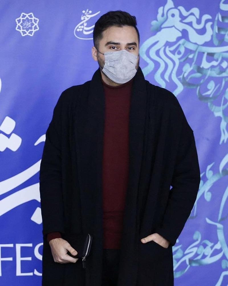 محمد حیدری در اکران فیلم «خط فرضی» در سی و نهمین جشنواره فیلم فجر