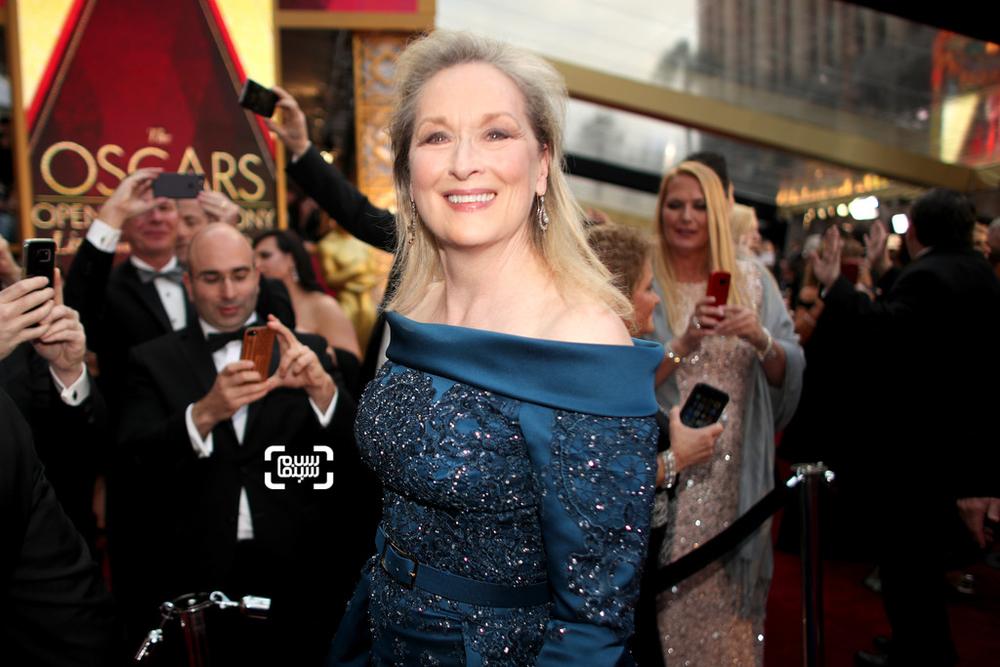 مریل استریپ نامزد بهترین بازیگر زن برای فیلم «فلورنس فاستر جنکینز»(Florence Foster Jenkins) در فرش قرمز اسکار 2017