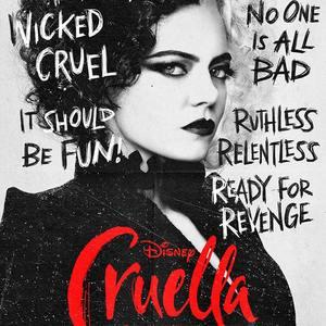 اما استون در پوستر فیلم «کروئلا» (Cruella)