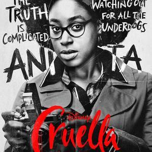 کیربی هاول باپتیست در پوستر فیلم «کروئلا» (Cruella)