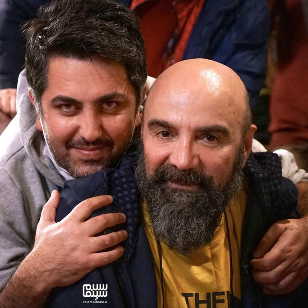 امیر سلیم خانی و مهران مهام در پشت صحنه سریال «بوتیمار»