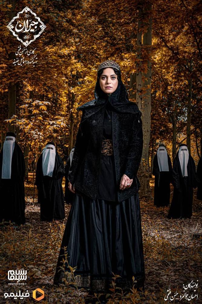 غزل شاکری بازیگر نقش ملک زاده خواهر ناصرالدین شاه در سریال «جیران»