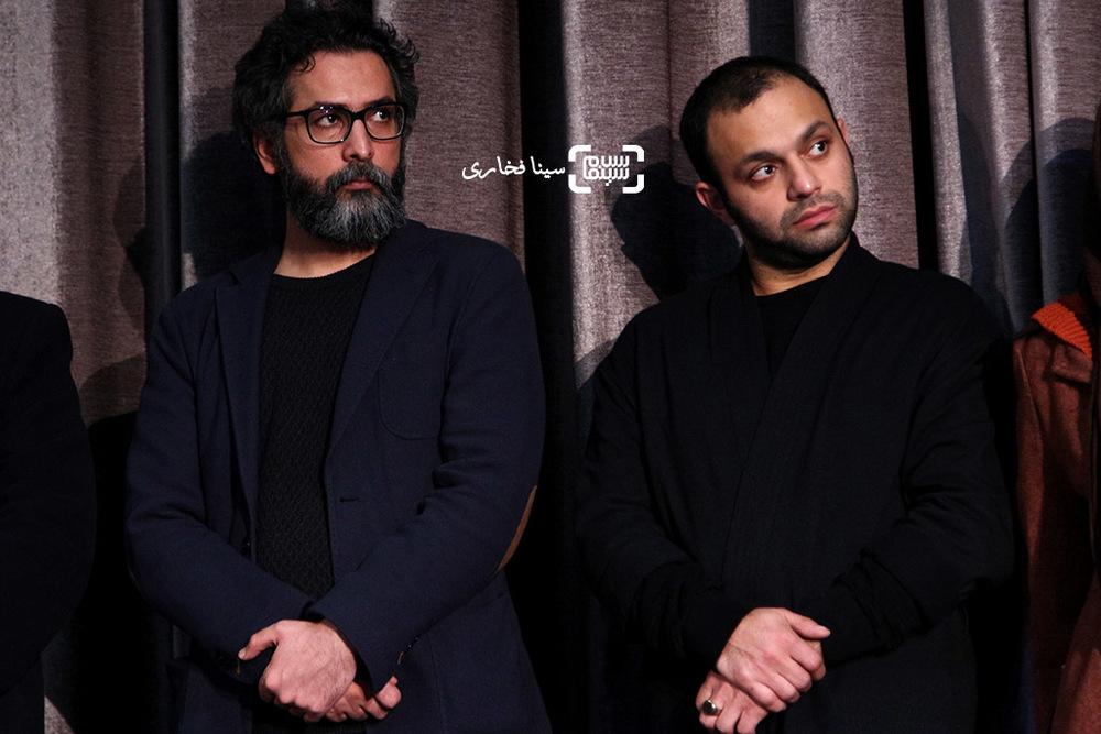 سعید ملکان و صابر ابر در اکران خصوصی فیلم «ویلایی ها»