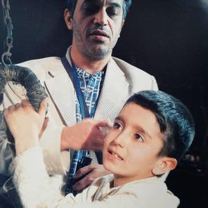 محمدحسین لطیفی و علیرضا مظفری در پشت صحنه سریال «نردبام آسمان»