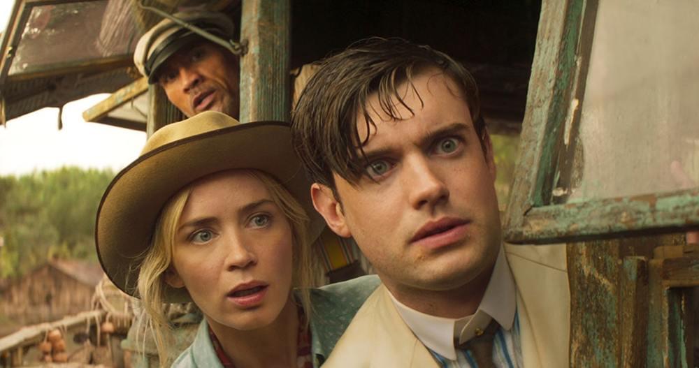 دواین جانسون، امیلی بلانت و جک وایتهال در نمایی از فیلم سینمایی «جنگل کروز» (Jungle Cruise)