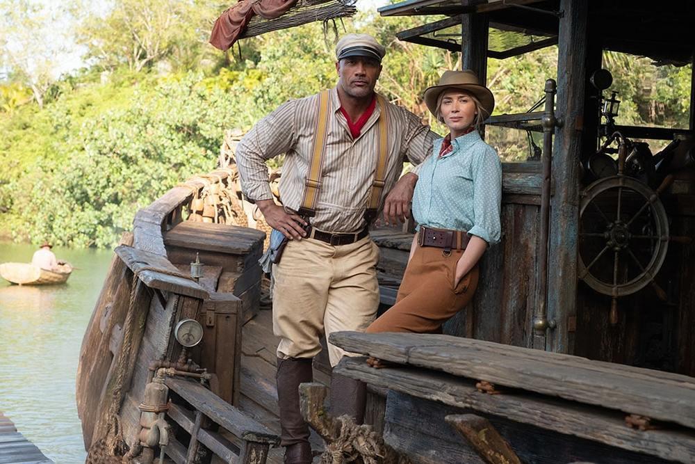 دواین جانسون و امیلی بلانت در فیلم «جنگل کروز» (Jungle Cruise) به کارگردانی ژاومه کویت-سرا