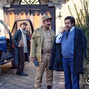 سام قریبیان، حمید ابراهیمی و رضا جوشنی در سریال «کلبه ای در مه»