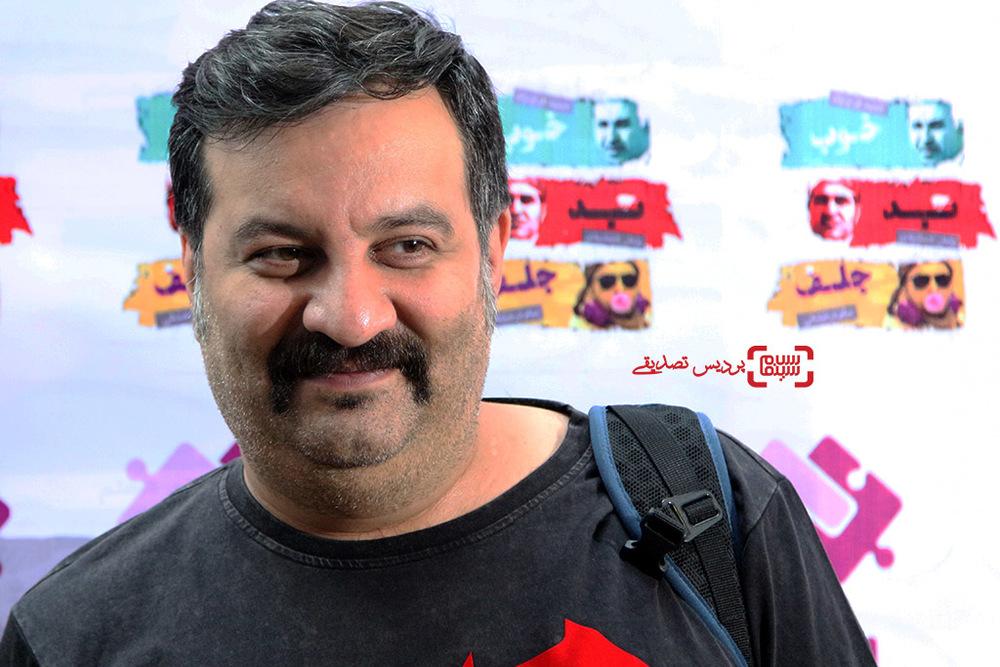 مهراب قاسم خانی در اکران فیلم «خوب، بد، جلف» در حمايت از بيماران اتيسم