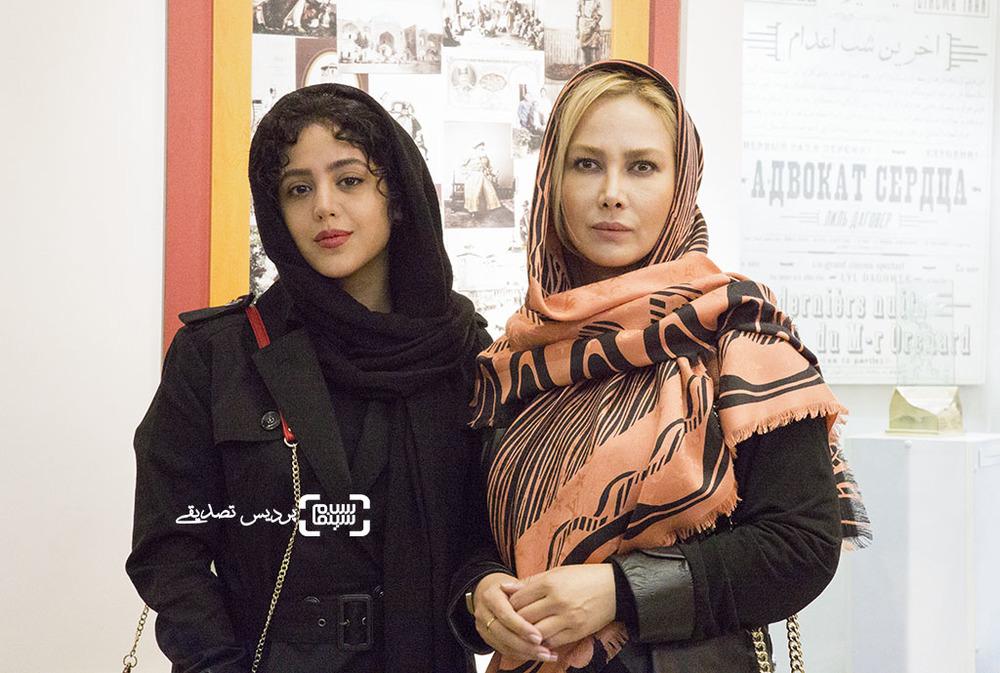 آنا نعمتی و هنگامه حمیدزاده در اکران خصوصی فیلم «مفت آباد»