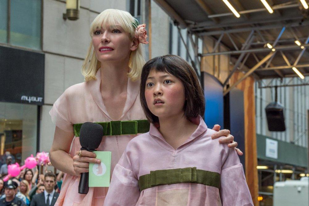 تیلدا سوئینتن و آن سئو هیون در فیلم «اوکجا»(Okja)