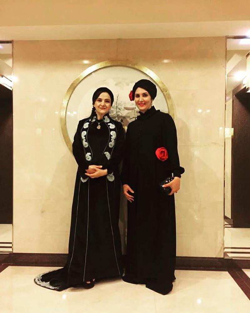 گلاب آدینه و مرجان اشرفی زاده در اختتامیه جشنواره فیلم پکن