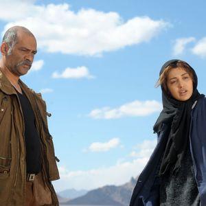 روشنک گرامی و نادر فلاح در فیلم «بی سایه (یک کامیون غروب)»