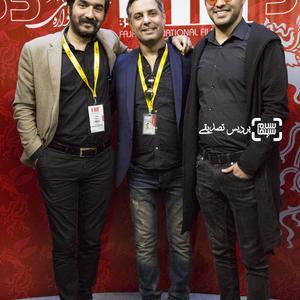 سامان صفاری، علی مردانه و سجاد افشاریان در اکران فیلم «بی سایه (یک کامیون غروب)» در جشنواره بین المللی فیلم فجر