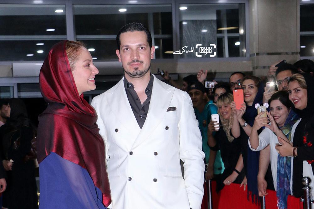 مهناز افشار و همسرش محمدیاسین رامین در اکران مردمی فیلم «نهنگ عنبر2; سلکشن رویا» در سینما مگامال