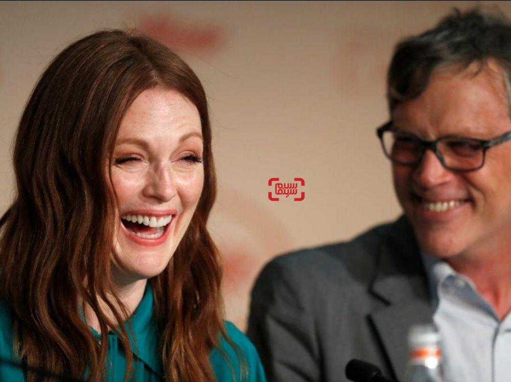 جولیان مور در نشست خبری فیلم «شگفت زده»(Wonderstruck) در جشنواره فیلم کن2017