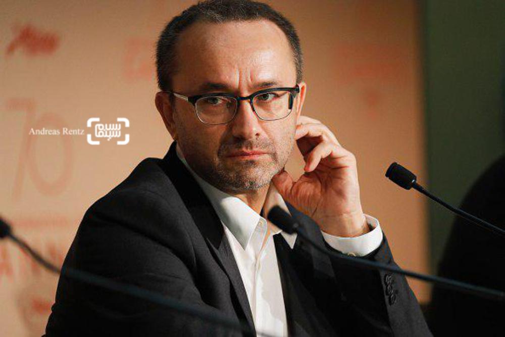 آندری زویاگینتسوف در نشست خبری فیلم «بی عشق»(Loveless) در جشنواره فیلم کن2017