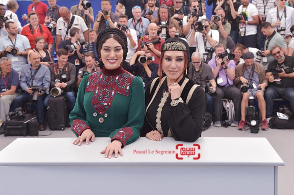 سودابه بیضایی و نسیم ادبی در فتوکال فیلم «لرد» در بخش نگاه نو در جشنواره فیلم کن 2017