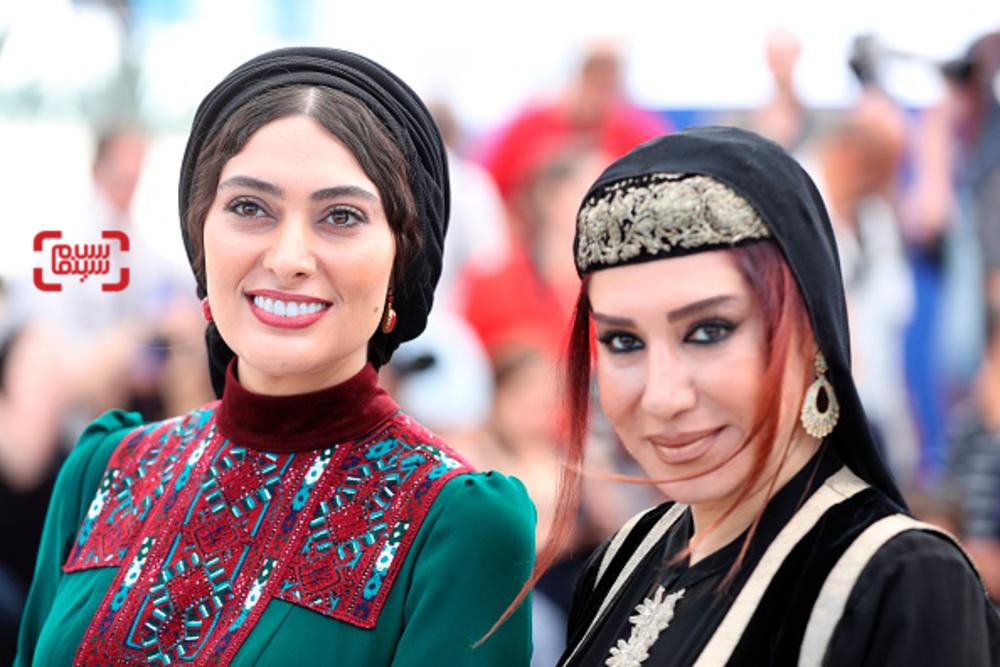 نسیم ادبی و سودابه بیضایی در فتوکال فیلم «لرد» در بخش نگاه نو در جشنواره کن 2017