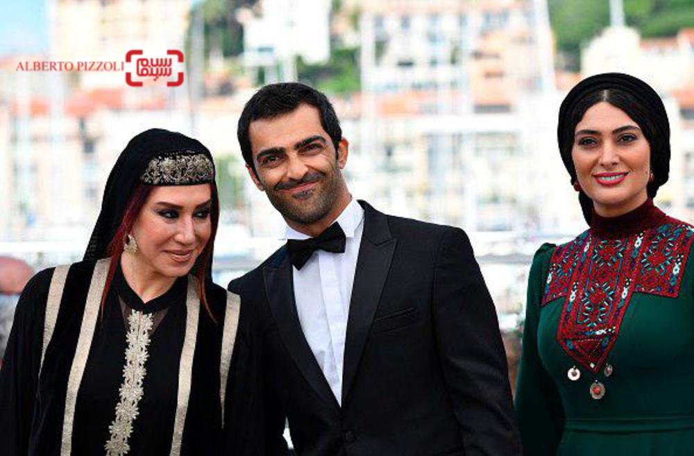 سودابه بیضایی، رضا اخلاقی راد و نسیم ادبی در فتوکال «لرد» در جشنواره فیلم کن2017