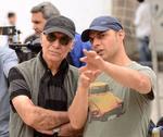 پیمان معادی و محمود کلاری در پشت صحنه فیلم «بمب یک عاشقانه»
