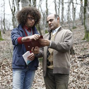 سیاوش چراغی پور و فراز مدیری در فیلم ماهی و گربه