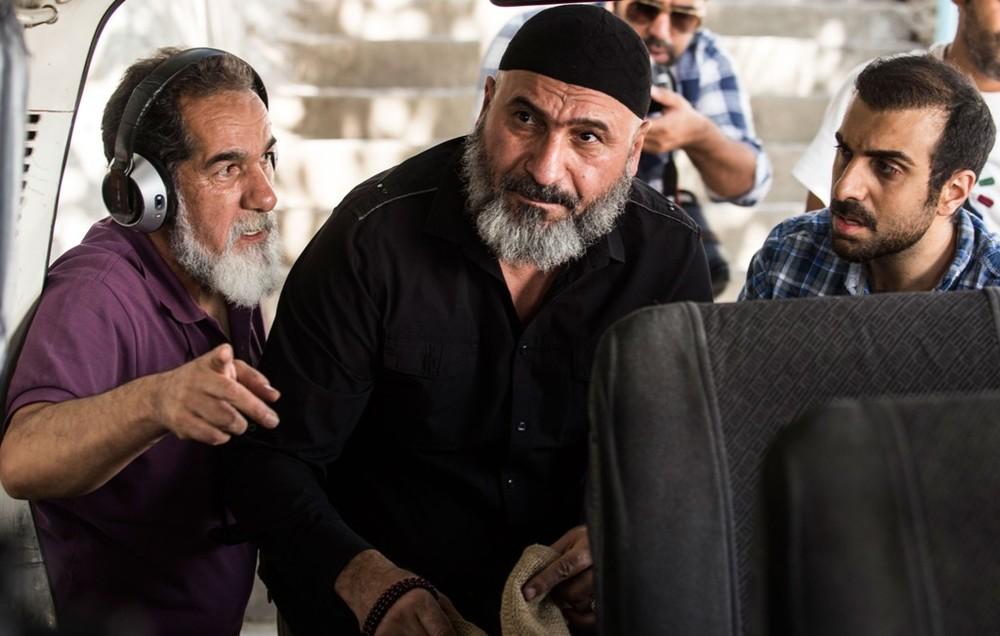 سعید سهیلی، حمید فرخ نژاد و پولاد کیمیایی در پشت صحنه فیلم «گشت 2»