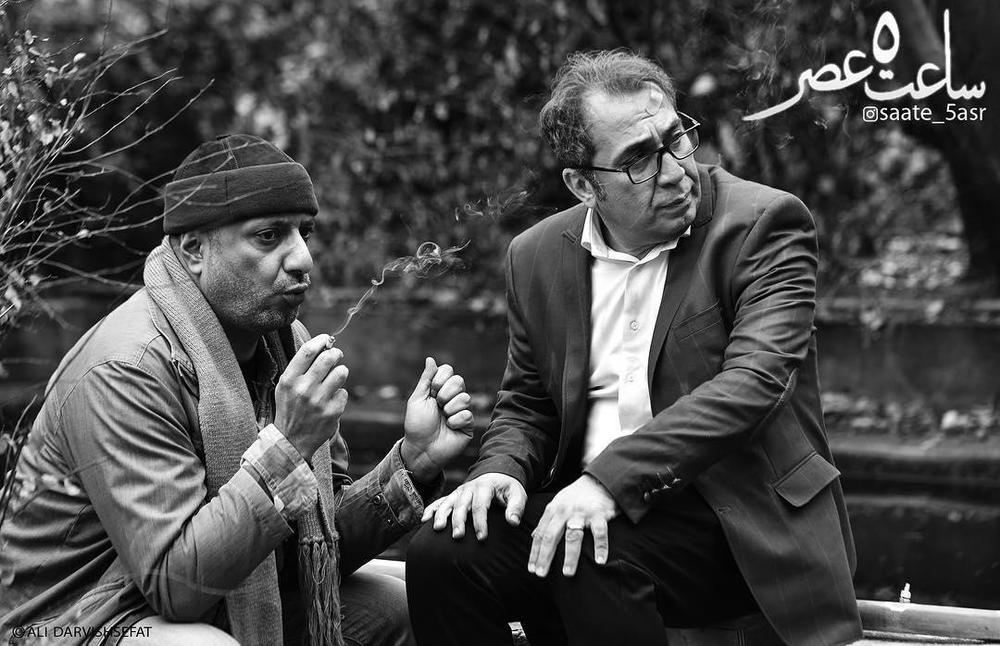 سيامك انصارى و امیر جعفری در فیلم سینمایی «ساعت ٥ عصر»