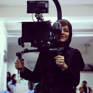 ساره بیات در پشت صحنه فیلم سینمایی «زرد»
