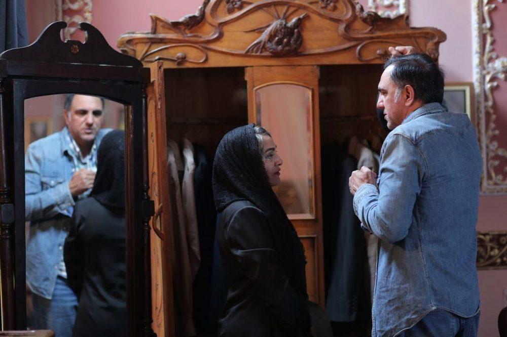حسن فتحی و رویا نونهالی در پشت صحنه فصل دوم سریال نمایش خانگی «شهرزاد»