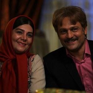 حسين ياري و هنگامه قاضياني در فیلم پدر آن دیگری
