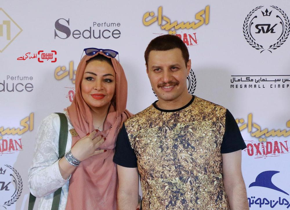 مه لقا باقری و همسرش جواد عزتی در اکران خصوصی فیلم «اکسیدان»
