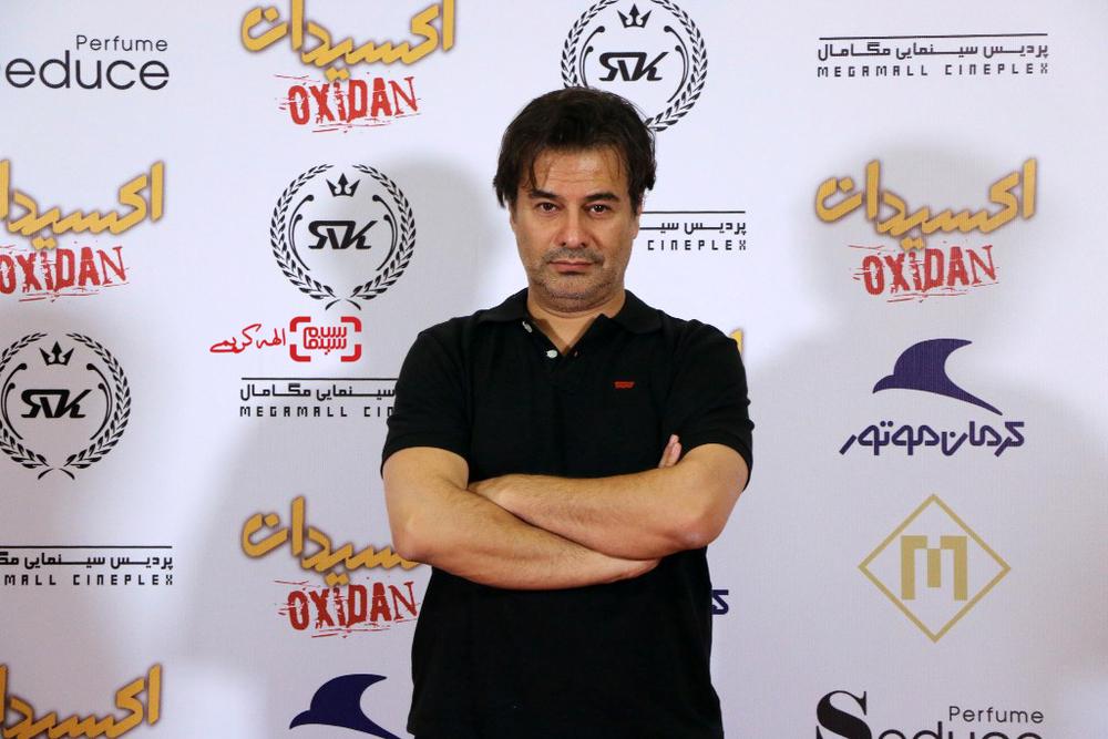 پیمان قاسم خانی در اکران خصوصی فیلم «اکسیدان»