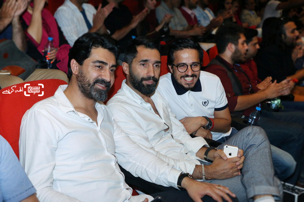 هادی کاظمی، محمدرضا علیمردانی و حسین سلیمانی در اکران خصوصی فیلم «اکسیدان»