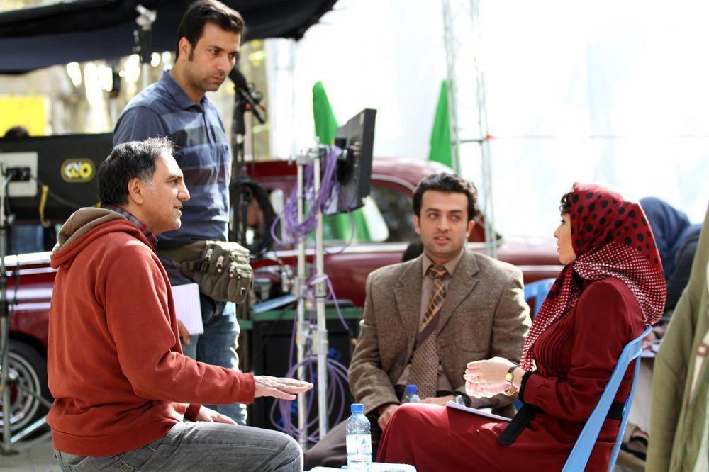 حسن فتحی، مصطفی زمانی و ترانه علیدوستی در پشت صحنه فصل دوم «شهرزاد»
