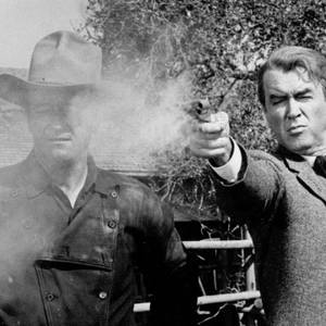 جان وین و جیمز استورات در فیلم «مردی که لیبرتی والانس را کشت»(the man who shot liberty valance)