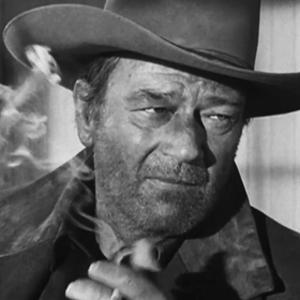 جان وین در نمایی از فیلم «مردی که لیبرتی والانس را کشت»(the man who shot liberty valance)