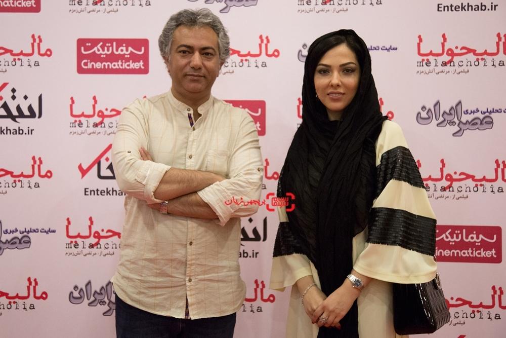 محمدرضا هدایتی و لیلا اوتادی در اکران خصوصی فیلم «مالیخولیا»