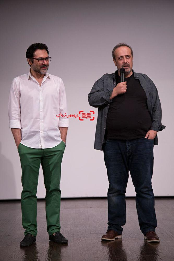 کوروش تهامی و حمید نعمت الله در اکران مردمی فیلم «رگ خواب»